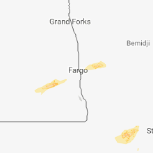 Regional Hail Map for Fargo, ND - Monday, August 27, 2018