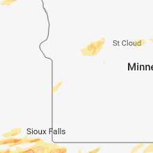 Regional Hail Map for Montevideo, MN - Monday, August 27, 2018