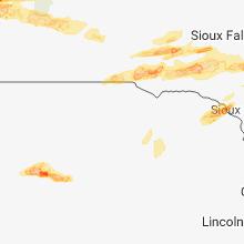 Regional Hail Map for Oneill, NE - Monday, August 27, 2018