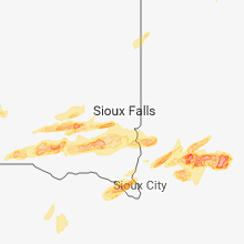 Regional Hail Map for Sioux Falls, SD - Monday, August 27, 2018