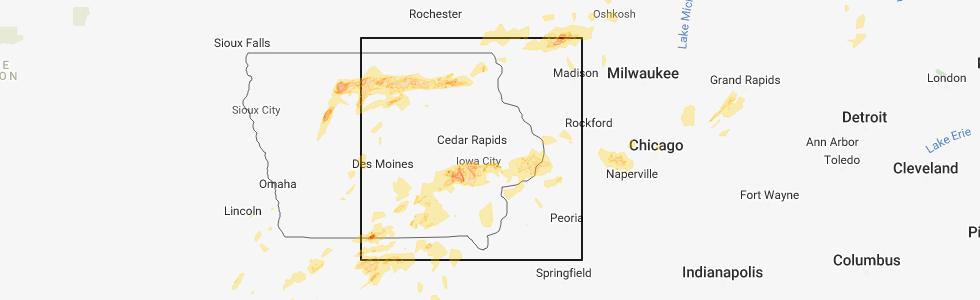 Interactive Hail Maps Hail Map For Iowa City Ia