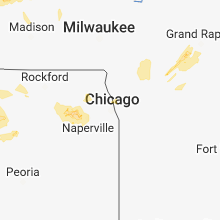 Regional Hail Map for Chicago, IL - Tuesday, August 28, 2018