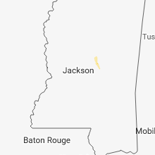 Regional Hail Map for Jackson, MS - Tuesday, August 28, 2018