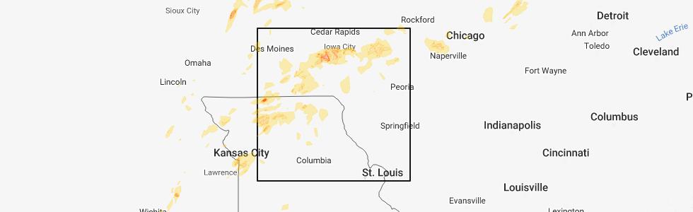Bentonsport Iowa Map.Interactive Hail Maps Hail Map For New London Ia