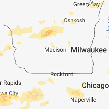 Hail Map for madison-wi 2018-08-28