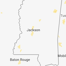 Regional Hail Map for Jackson, MS - Wednesday, August 29, 2018