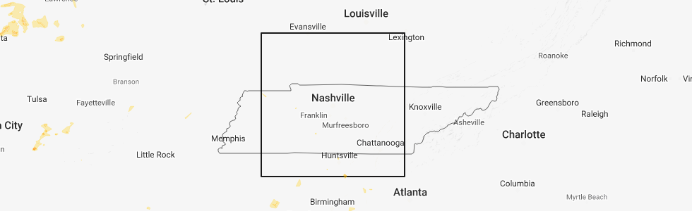 Hail Map for Nashville, TN - Wednesday, August 29, 2018