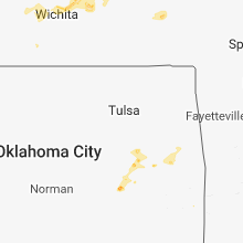 Regional Hail Map for Tulsa, OK - Wednesday, August 29, 2018