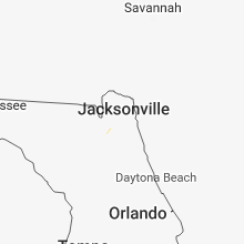 Regional Hail Map for Jacksonville, FL - Thursday, August 30, 2018