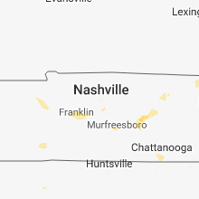 Regional Hail Map for Nashville, TN - Thursday, August 30, 2018