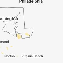 Regional Hail Map for Ocean City, MD - Thursday, August 30, 2018