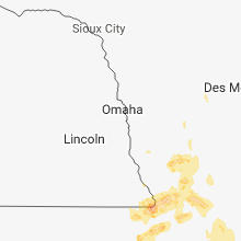 Regional Hail Map for Omaha, NE - Thursday, August 30, 2018