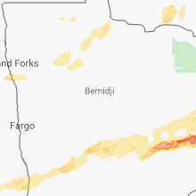 Regional Hail Map for Bemidji, MN - Friday, August 31, 2018