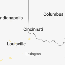 Regional Hail Map for Cincinnati, OH - Friday, August 31, 2018