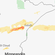 Regional Hail Map for Duluth, MN - Friday, August 31, 2018