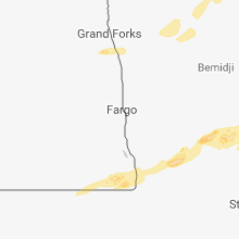 Regional Hail Map for Fargo, ND - Friday, August 31, 2018