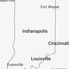 Regional Hail Map for Indianapolis, IN - Friday, August 31, 2018