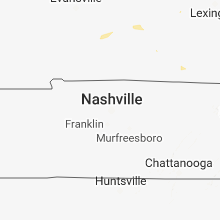 Regional Hail Map for Nashville, TN - Friday, August 31, 2018