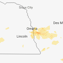 Regional Hail Map for Omaha, NE - Friday, August 31, 2018