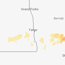Regional Hail Map for Fargo, ND - Saturday, September 1, 2018