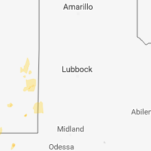Regional Hail Map for Lubbock, TX - Saturday, September 1, 2018