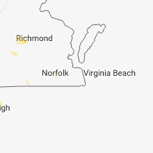 Regional Hail Map for Virginia Beach, VA - Saturday, September 1, 2018