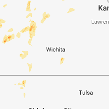 Regional Hail Map for Wichita, KS - Sunday, September 2, 2018