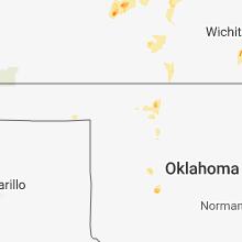 Regional Hail Map for Woodward, OK - Sunday, September 2, 2018