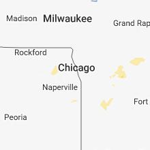 Regional Hail Map for Chicago, IL - Monday, September 3, 2018