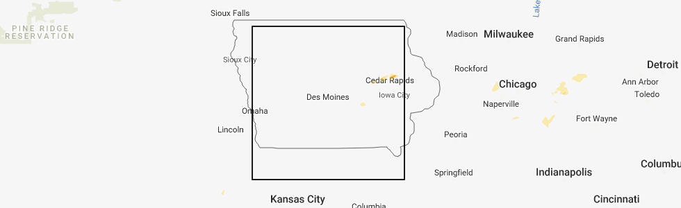 Hail Map for Des Moines, IA - Monday, September 3, 2018