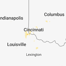 Regional Hail Map for Cincinnati, OH - Wednesday, September 5, 2018