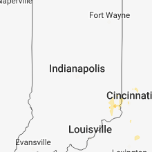 Regional Hail Map for Indianapolis, IN - Wednesday, September 5, 2018