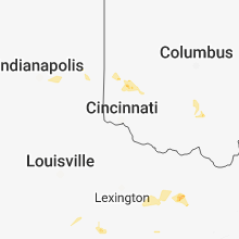 Regional Hail Map for Cincinnati, OH - Thursday, September 6, 2018