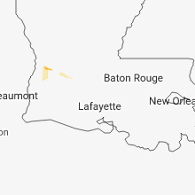 Regional Hail Map for Lafayette, LA - Thursday, September 6, 2018