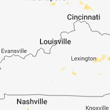 Regional Hail Map for Louisville, KY - Thursday, September 6, 2018