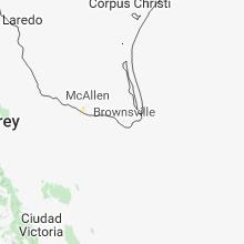 Regional Hail Map for Brownsville, TX - Sunday, September 9, 2018
