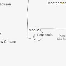 Regional Hail Map for Mobile, AL - Monday, September 10, 2018