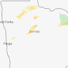 Regional Hail Map for Bemidji, MN - Wednesday, September 12, 2018