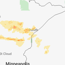 Regional Hail Map for Duluth, MN - Friday, September 14, 2018