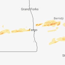 Regional Hail Map for Fargo, ND - Friday, September 14, 2018