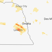 Regional Hail Map for Omaha, NE - Tuesday, September 18, 2018