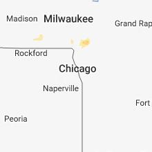 Regional Hail Map for Chicago, IL - Wednesday, September 19, 2018