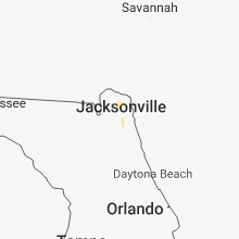 Regional Hail Map for Jacksonville, FL - Wednesday, September 19, 2018
