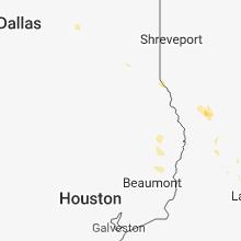 Regional Hail Map for Lufkin, TX - Wednesday, September 19, 2018