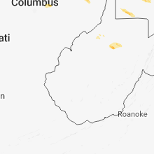 Regional Hail Map for Charleston, WV - Tuesday, October 2, 2018
