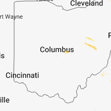 Regional Hail Map for Columbus, OH - Tuesday, October 2, 2018