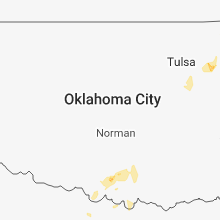 Regional Hail Map for Oklahoma City, OK - Saturday, October 6, 2018