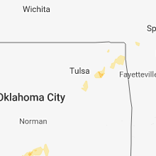 Regional Hail Map for Tulsa, OK - Saturday, October 6, 2018