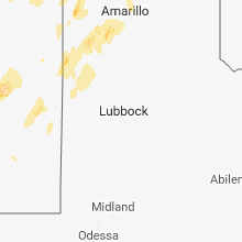 Regional Hail Map for Lubbock, TX - Sunday, October 7, 2018