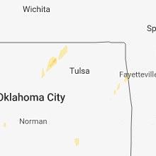 Regional Hail Map for Tulsa, OK - Sunday, October 7, 2018